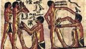 Afbeelding van de besnijdenis in het Oude Egypte