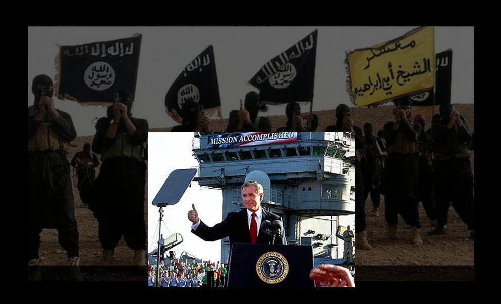 Bush begets Daesh, oorlog, terrorisme, parijs, beiroet, bagdad, palestina