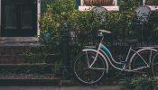 fiets leren moeder